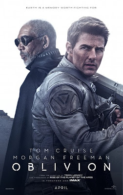 Tom Cruise Morgan Freeman Oblivion Poster