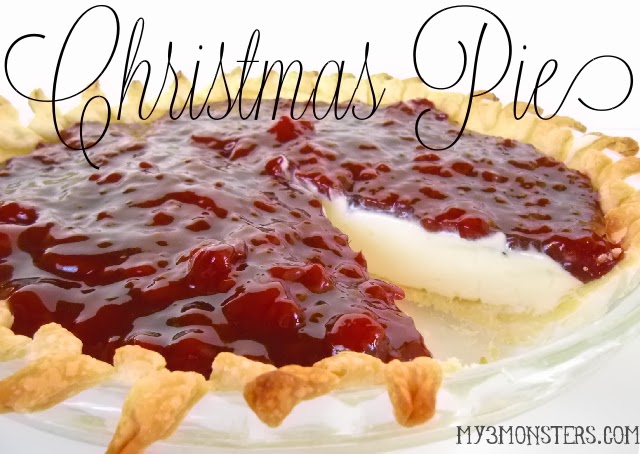 "Cream Cheese ""Christmas"" Pie at my3monsters.com"