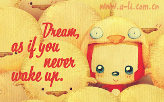 Dream as if you never wake up!