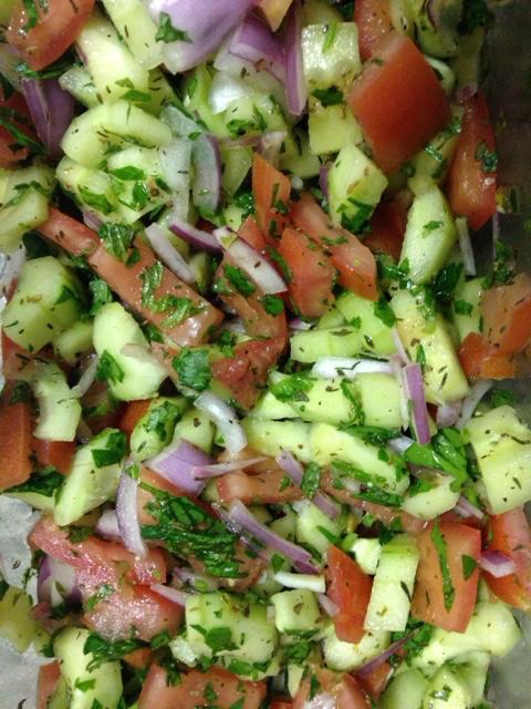 Middle Eastern Salad - My Best Badi