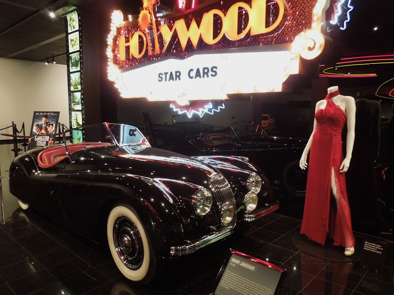 Gangster Squad car Emma Stone's gown Petersen Auto Museum