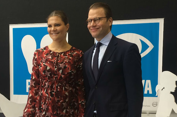 Crown Princess Victoria and Daniel visited in the morning the Volvo headquarters,