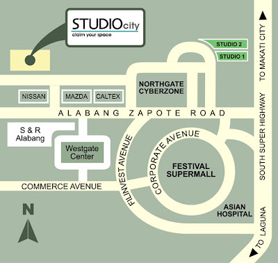 Studio City Alabang Location Map, Condominium for sale in Alabang, Filinvest