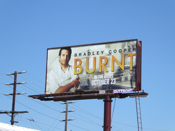 Burnt movie billboard