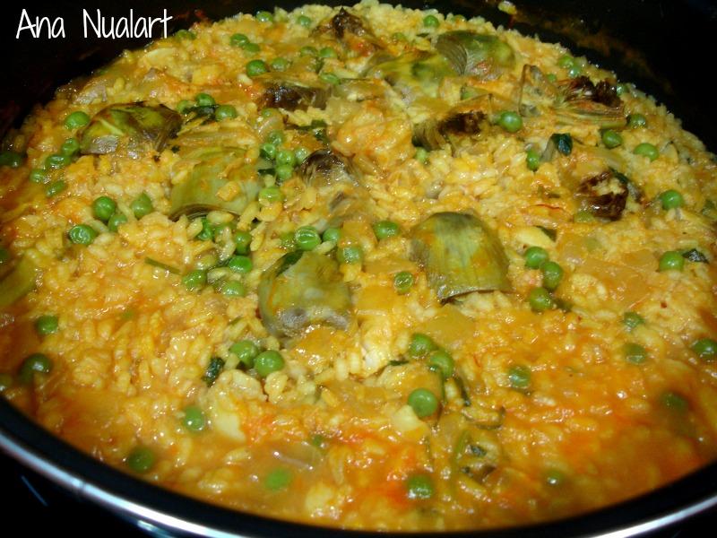 La cocinera de b tulo arroz con bacalao y alcachofas - Arroz con alcachofas y jamon ...
