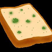 カビたパンのイラスト