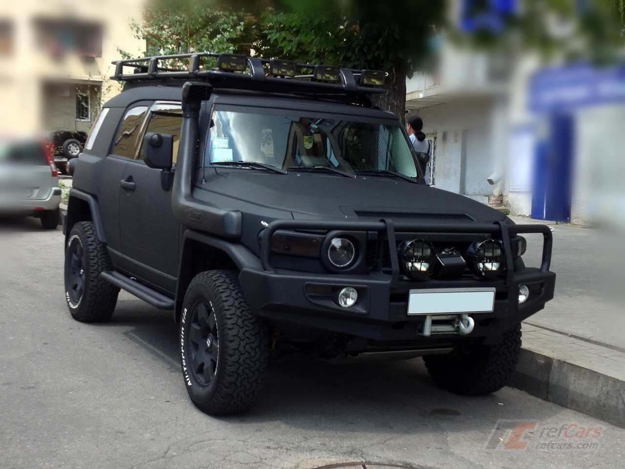 refcars matte black tuning toyota fj cruiser. Black Bedroom Furniture Sets. Home Design Ideas