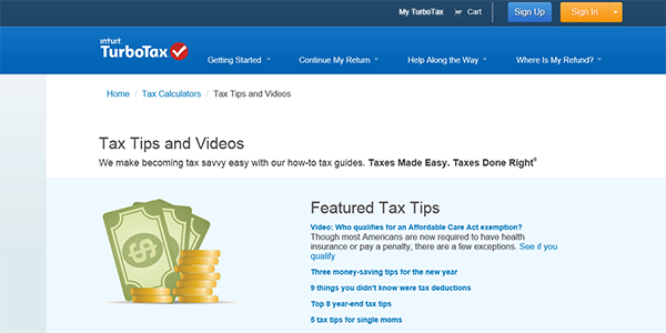 Turbo Tax Resources Page