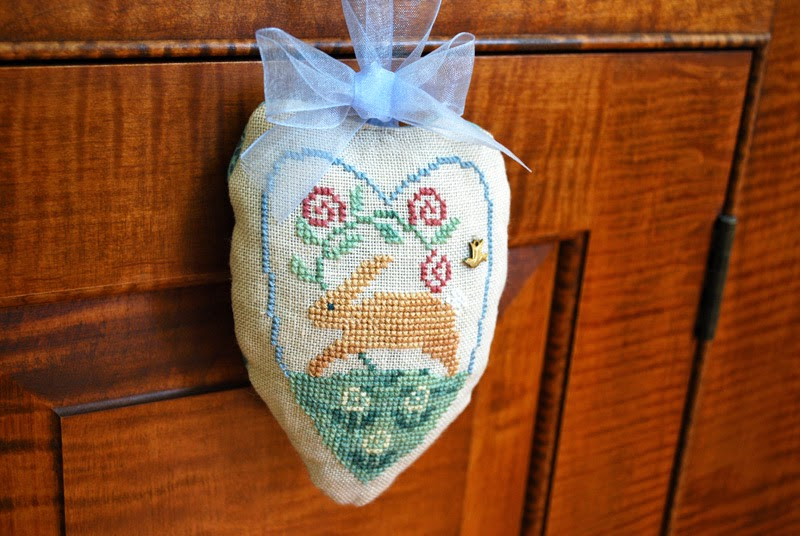 cross stitch rabbit ornament