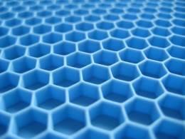 3D синие соты