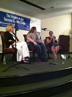 Myra McEntire, Beth Revis and Vania at Decatur Book Festival