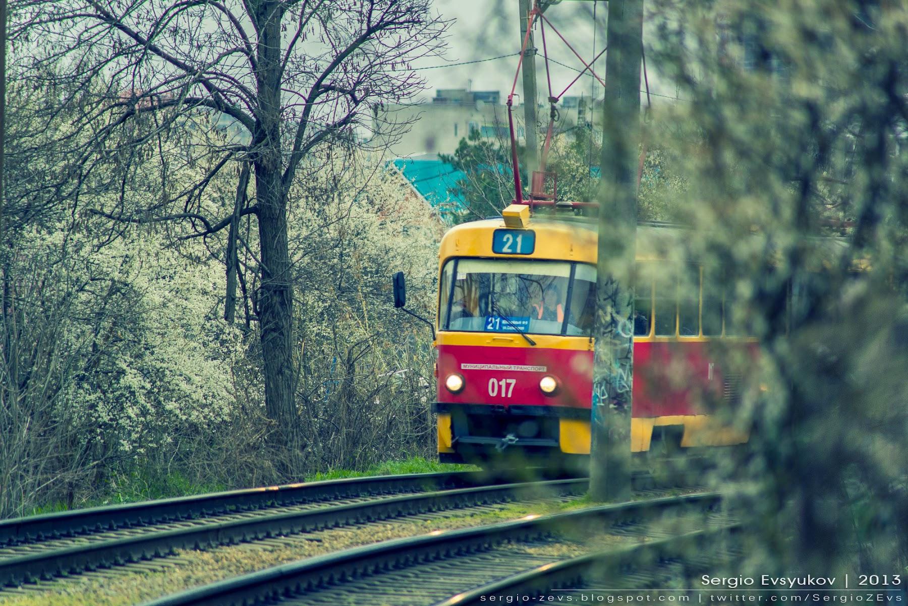 Весна, Краснодар, Кубань, рельсы, депо, деревья, маршрут