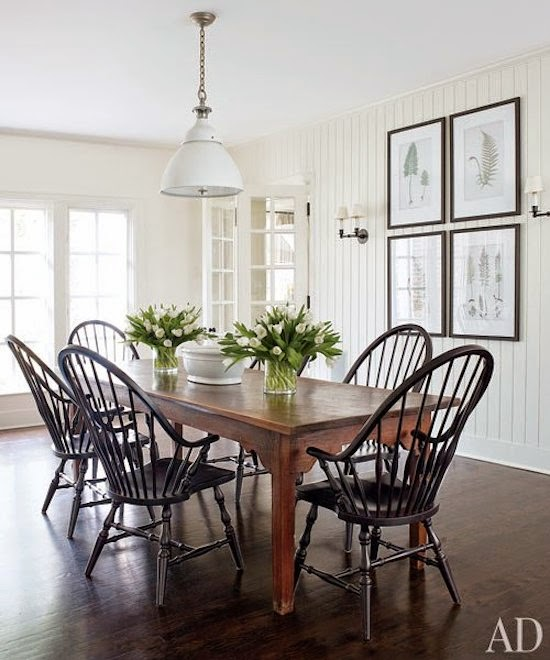 country modern dining area white kitchen