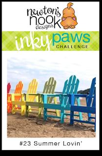 Inky Paws Challenge #23 _ Summer Lovin' |  Newton's Nook Designs