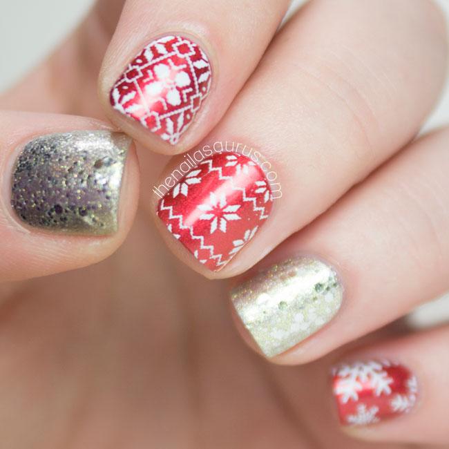 Christmas Finger Nail Art: Nailvengers Assemble! Christmas Nail Art