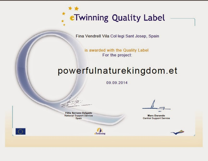 NATIONAL AND EUROPEAN QUALITY LABEL
