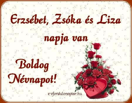 November 19 - Erzsébet, Zsóka, Liza névnap