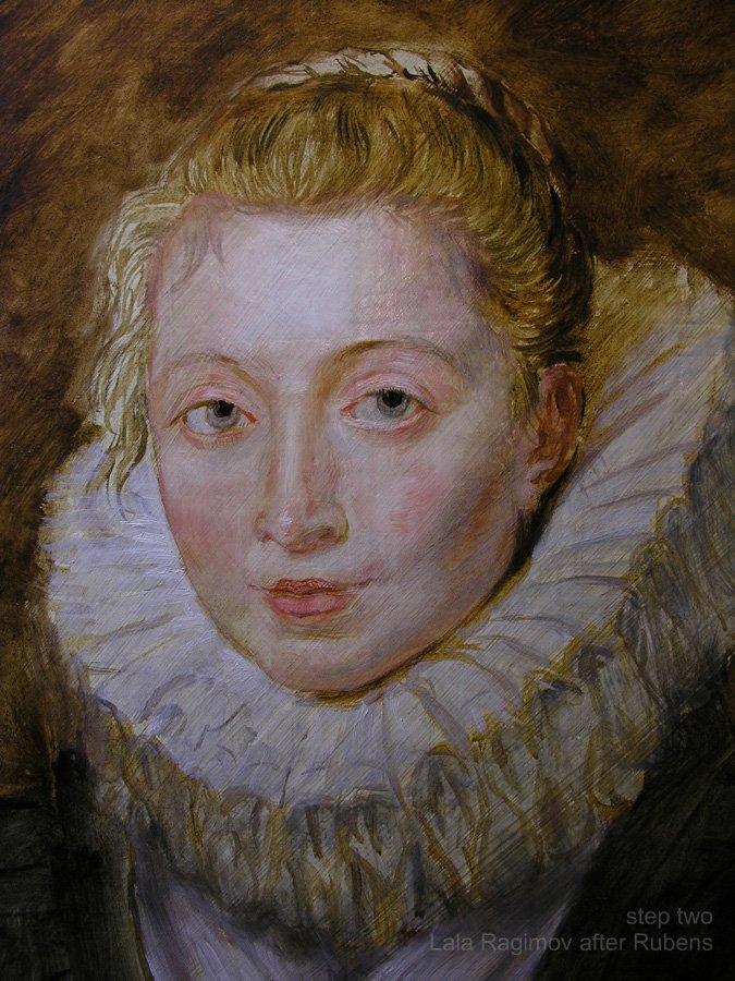 Lala Ragimov copy after Peter Paul Rubens, Step 2