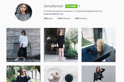 la matte noir instagram lamattenoir blogger style guru bw coffee famous