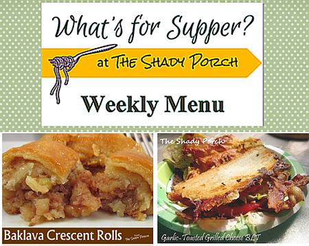 The Shady Porch: What's For Supper: Menu September 29, 2014