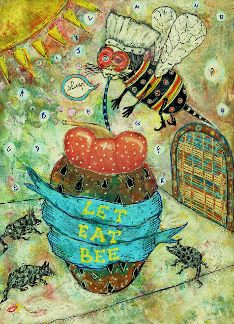 let  eat  bee      18x13 cm