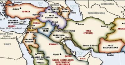 Büyük Ortadoğu Projesi haritası