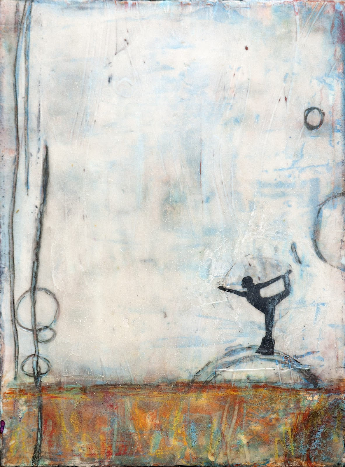 Yoga paintings abstract