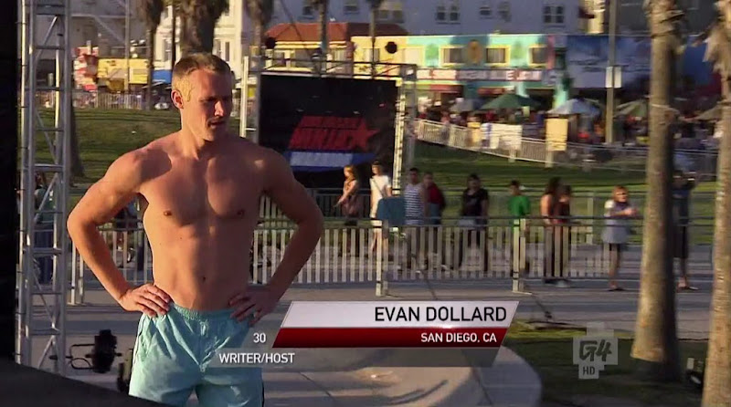 Evan Dollard Shirtless in American Ninja Warrior s4e03