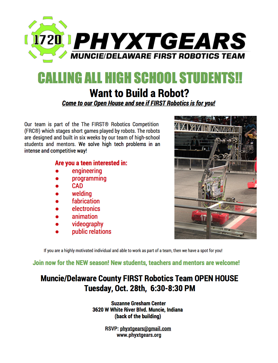 PhyXTGears 1720 Robotics Open House