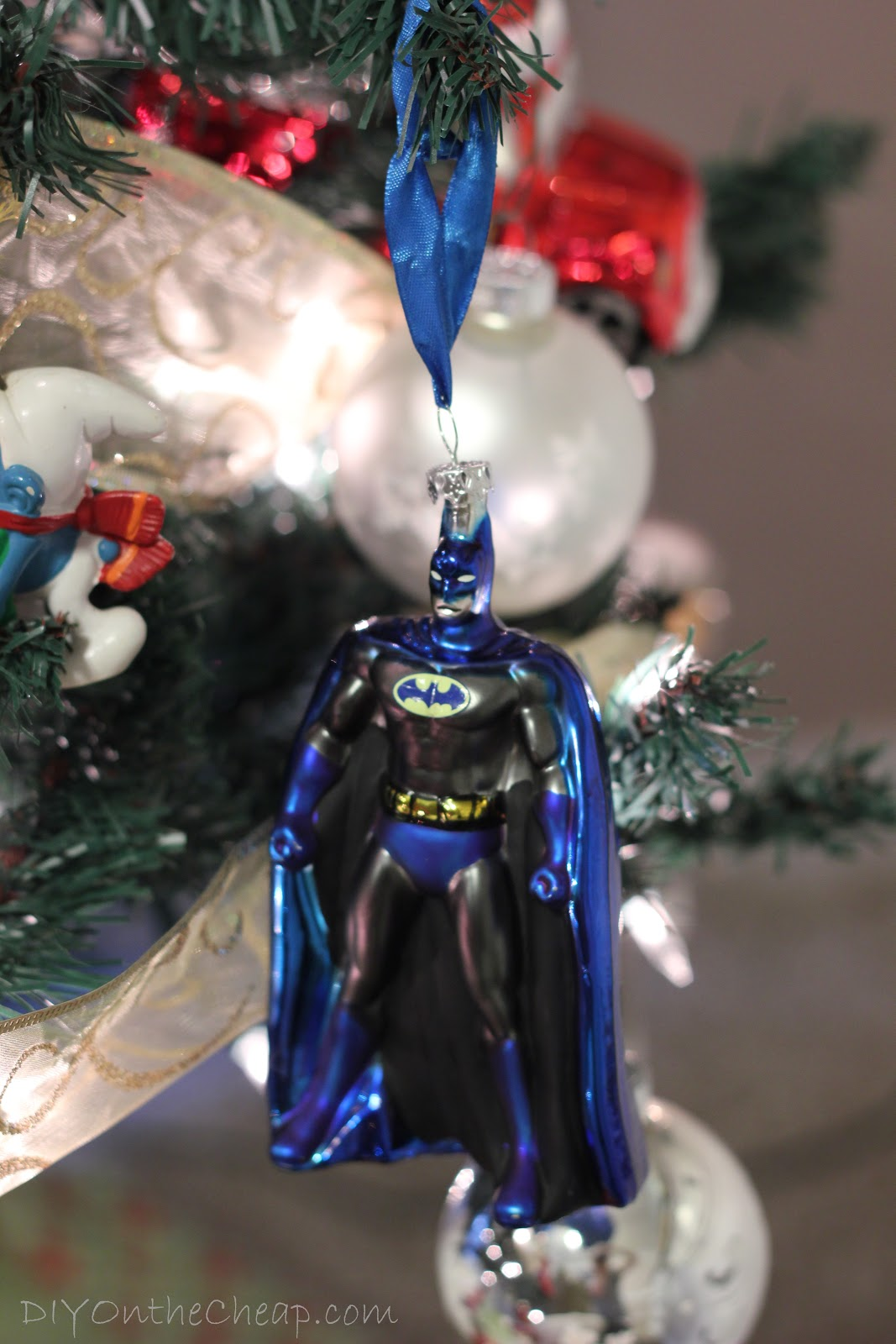 Batman christmas tree ornaments - Batman Ornament It S Funny When We Were Decorating The Tree It Was A Little Bit Of A Disaster The Top Strands Of Lights On Our Pre Lit Tree Decided To