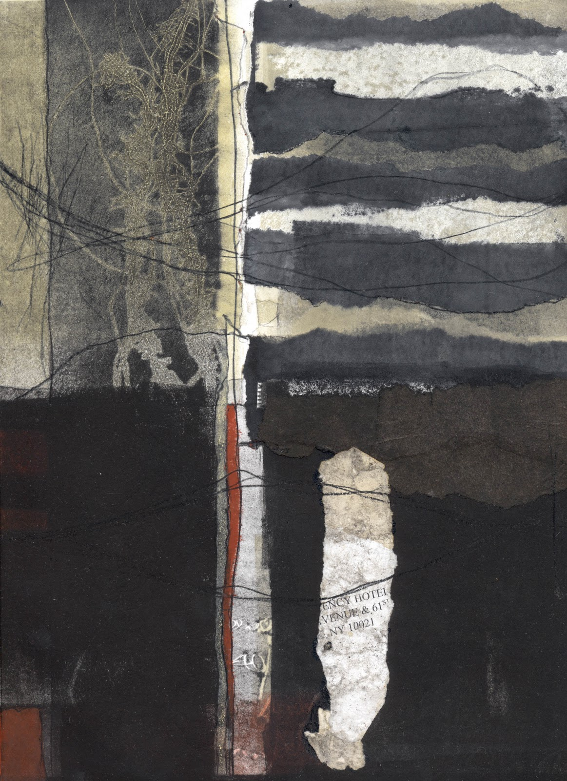 Susan Hurrell Fieldes 38NY1 From The Series Layers Of Her 2011 Monoprint