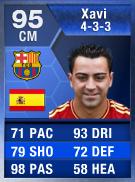 Xavi (TOTY) 95 (433) - FIFA 13 Ultimate Team Card