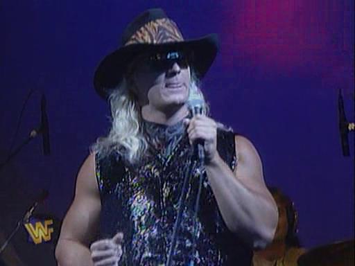 WWF / WWE - In Your House 2 - The Lumberjacks - Jeff Jarrett performs With My Baby Tonight