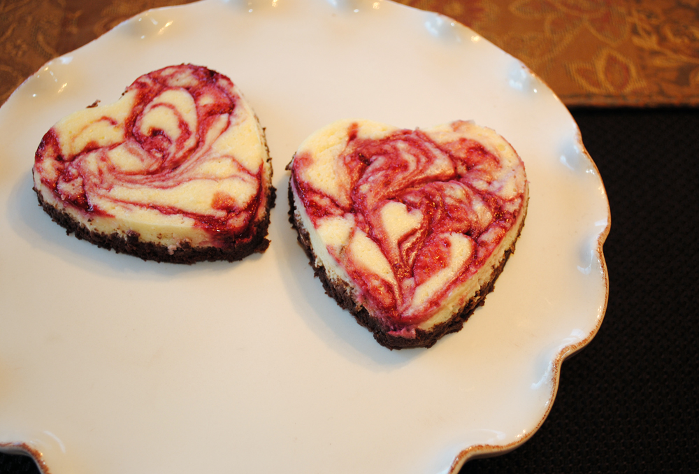 Cheesecakes With Raspberry Hearts Recipes — Dishmaps