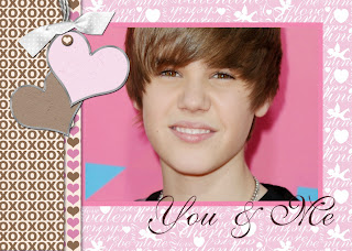 Justin Bieber pink wallpaper
