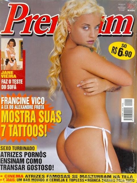 Confira as fotos da ex do Alexandre Frota, Francine Vico, capa da Sexy Premium de dezembro de 2004!