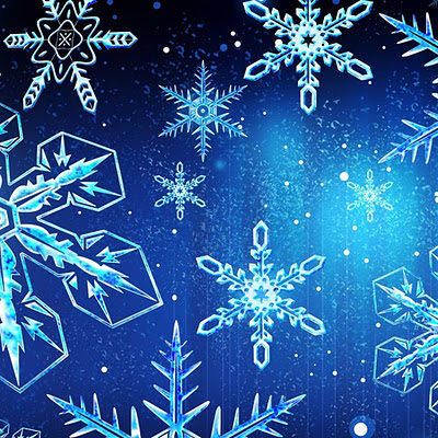 Blue Snowflakes for Christmas download free wallpapers for Apple iPad
