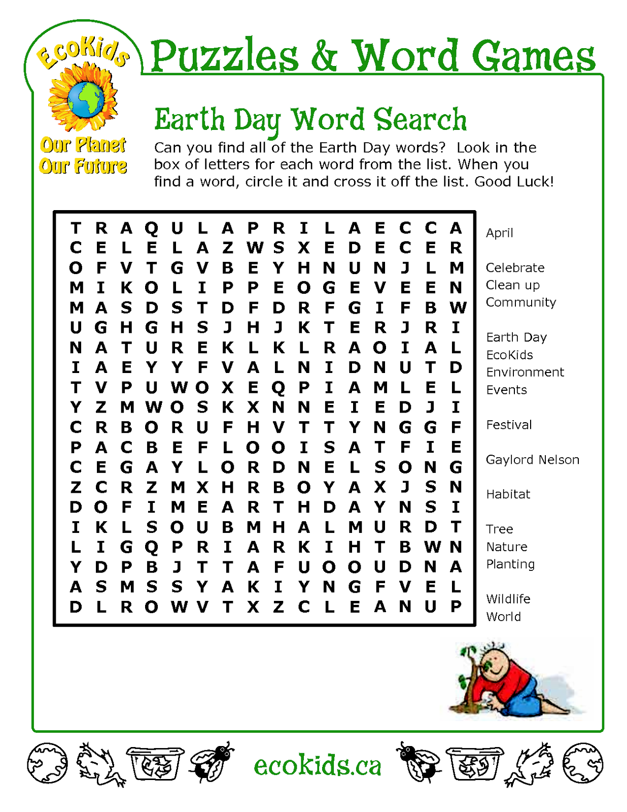 earth day crossword u0026 2015 04 earth day puzzle sc 1 st word witty