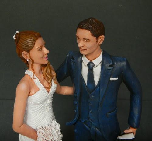 Sposini torte statuine torta nuziale matrimonio elegante regalo orme magiche