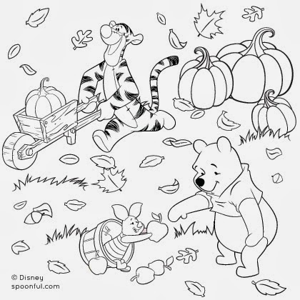 Plamena for Winnie the pooh thanksgiving coloring pages