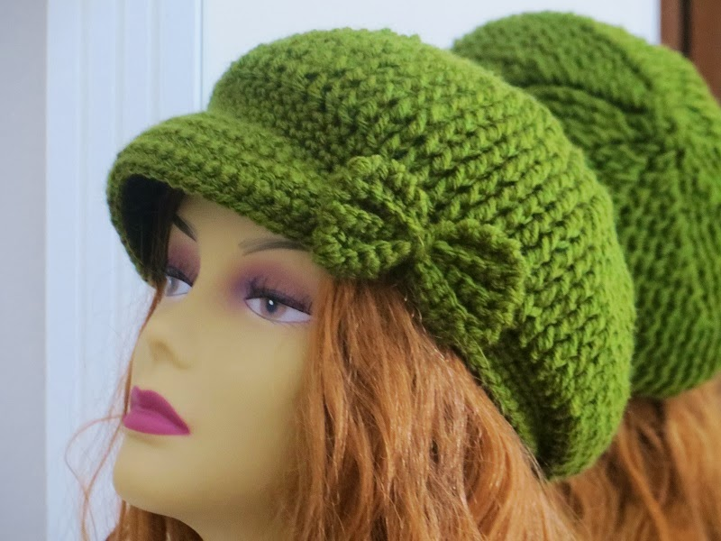Free Crochet Pattern Newsboy Style Cap : Crochet Dreamz: Taylor Newsboy Hat, Crochet Pattern for ...