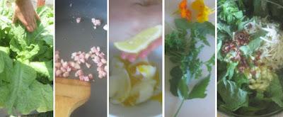 Zubereitung Wosun trifft Caesar Salat, Rezept mit Spargelsalat chinesische Keule