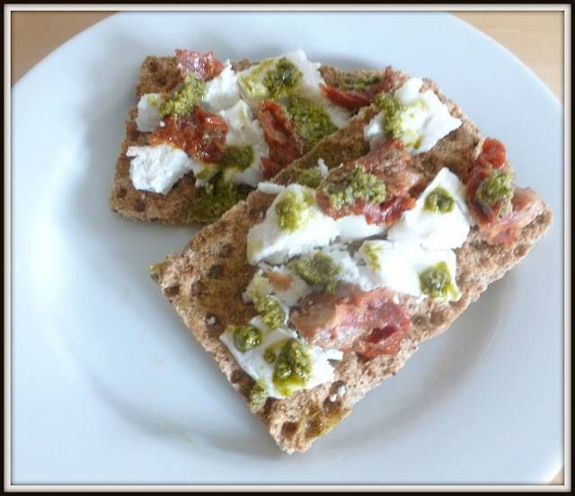 ryvita and goats cheese