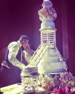 Dr Sid and Simi Osomo's lovely wedding cake