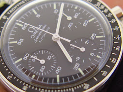 OMEGA SPEEDMASTER CHRONOGRAPH REDUCED MOONWATCH BLACK DIAL - AUTOMATIC