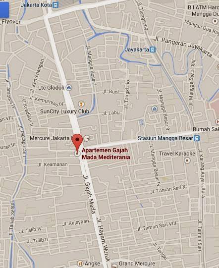 Sewa Harian Apartemen Mediterania Gajah Mada Jakarta Barat Termurah