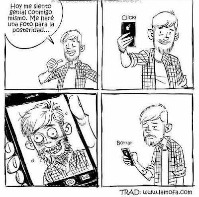 Comic de Humor : Tomarse una auto fotografía