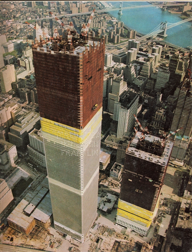 Old picture of the World Trade Center, New York City
