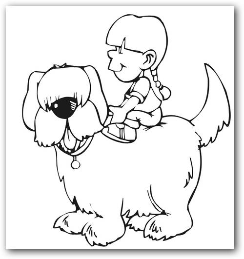 Encantador Páginas Para Colorear De Animales Para Perros Niños Ideas ...