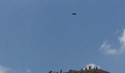 Clear UFO's Above Mexican Pyramid 2015, UFO Sighting News